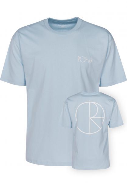 Polar Skate Co T-Shirts Stroke Logo lightblue Vorderansicht