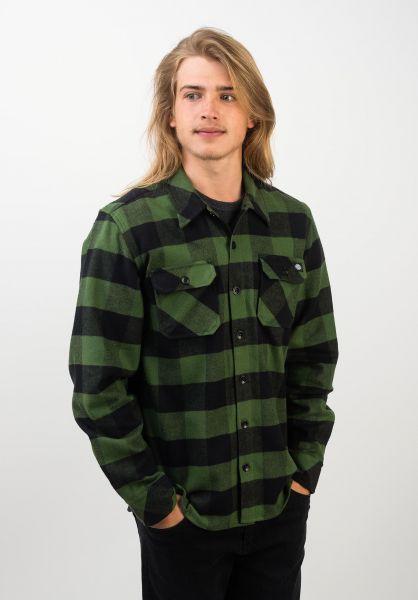 Dickies Hemden langarm Sacramento pinegreen vorderansicht 0411126