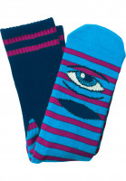 Toy-Machine-Socken-Sect-Eye-Stripe-navy-purple-Vorderansicht