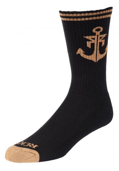 Rebel Rockers Socken Anchor black-gold vorderansicht 0631115