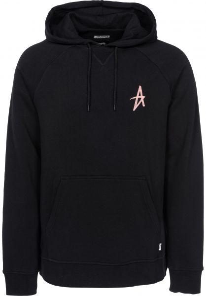 Altamont Hoodies A Pullover black-peach Vorderansicht