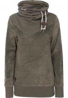 Ragwear Sweatshirts und Pullover Viola Velvet olive Vorderansicht