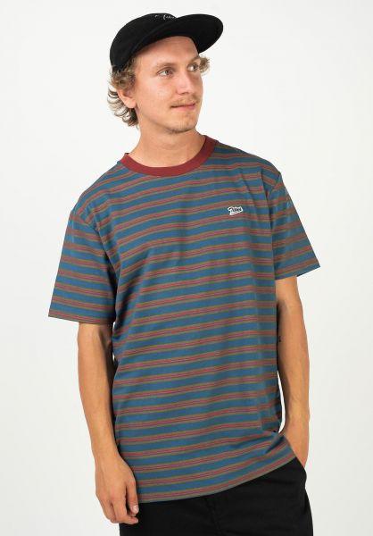 TITUS T-Shirts Borislaw blue-striped vorderansicht 0320885