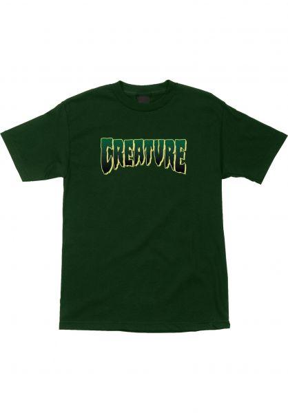 Creature T-Shirts Logo forestgreen vorderansicht 0376561