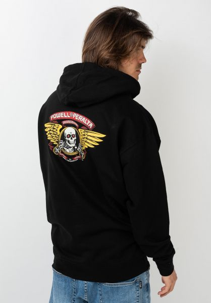 Powell-Peralta Hoodies Winged Ripper Medium Weight black vorderansicht 0444689