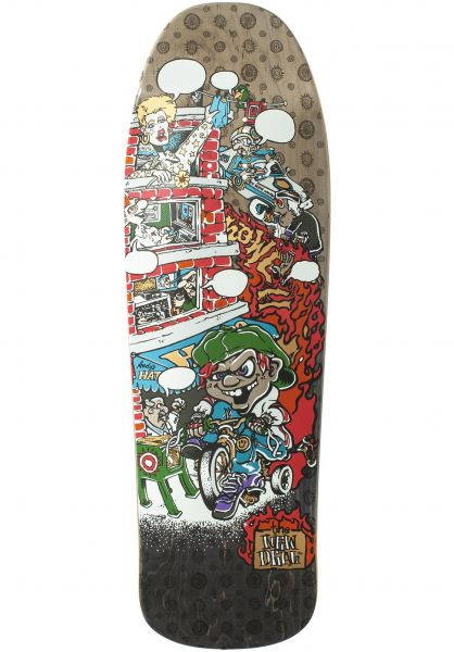 New-Deal Skateboard Decks Andy Howell Tricycle Kid Heattransfer blackfade vorderansicht 0262735