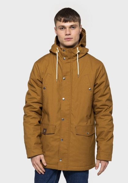 RVLT Winterjacken 7246 Parka brown vorderansicht 0250178