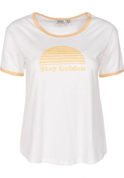 Rhythm T-Shirts Golden white vorderansicht 0399653