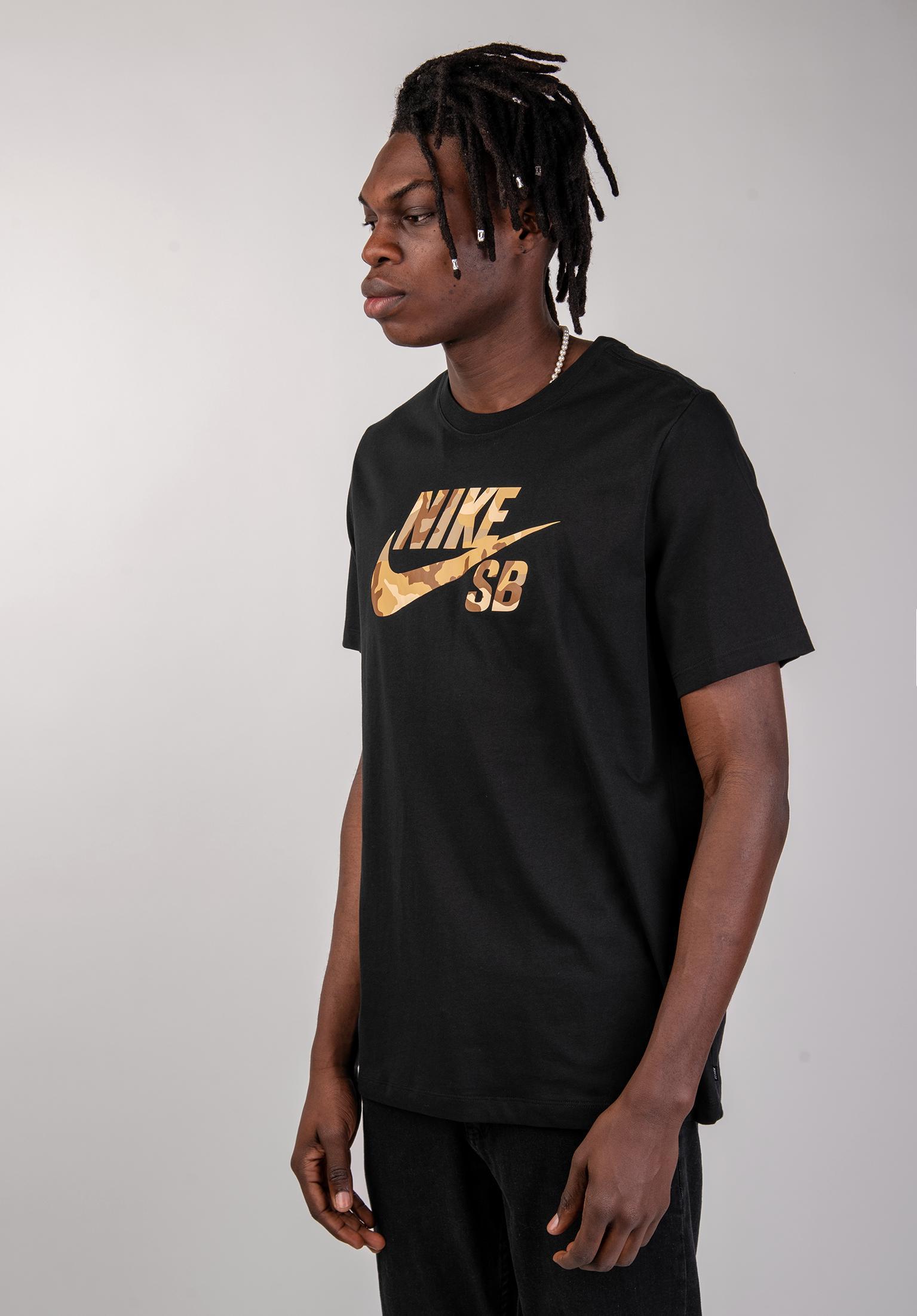 DFT Icon Logo Snsl 2 Nike SB T shirt in white desertcamo da
