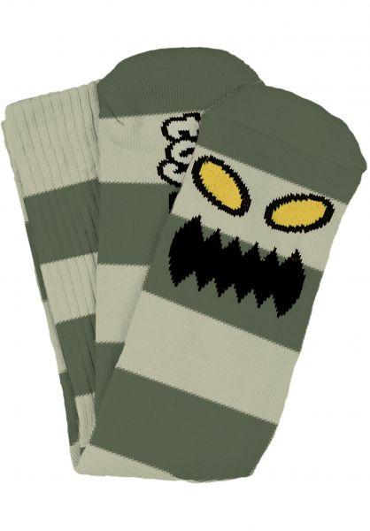 Toy-Machine Socken Monster Big Stripe green Vorderansicht