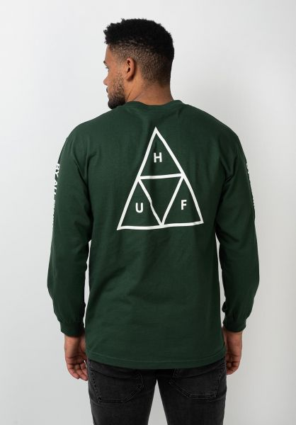 HUF Longsleeves Triple Triangle sycamore vorderansicht 0382746