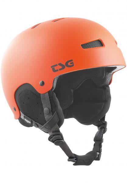 TSG Snowboardhelme Gravity Solid Color satin magma orange Vorderansicht 0750089