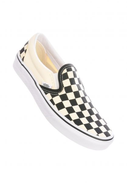 Vans Alle Schuhe Classic Slip-On black-white-checkerboard white vorderansicht 0612264