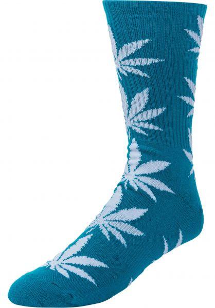 19b521ed1cdcb HUF Socken Plantlife Crew Sock biscaybay vorderansicht 0630394