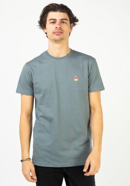 iriedaily T-Shirts Flutscher steelgrey vorderansicht 0323194
