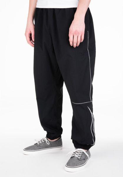 Nike SB Jogginghosen Track Swoosh black-white vorderansicht 0680212