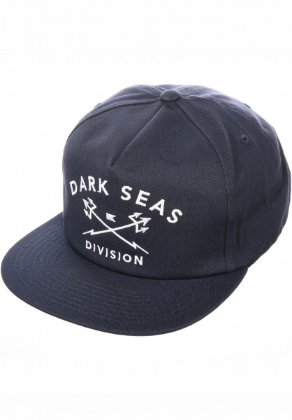 Dark Seas Caps Tridents Snapback Unstructured navy Vorderansicht