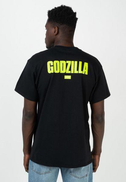 HUF T-Shirts x Godzilla Bar black vorderansicht 0321940