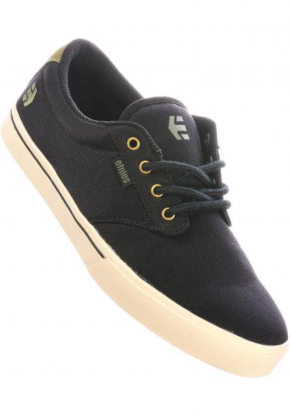 etnies Alle Schuhe Jameson 2 Eco black-green-gold vorderansicht 0602360