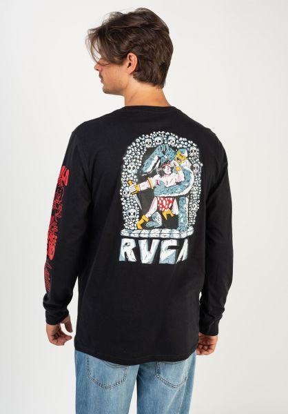 RVCA Longsleeves Barbarian black vorderansicht 0383800