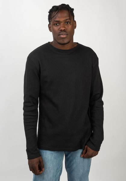 TITUS Longsleeves T-Waffle black vorderansicht 0382486