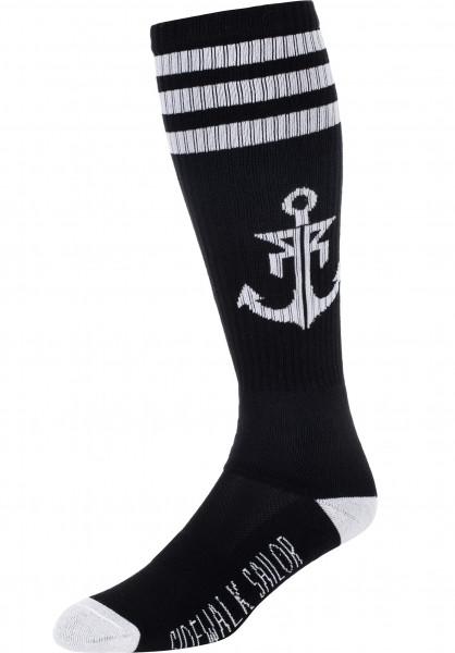 Rebel Rockers Socken Anchor black-white Vorderansicht