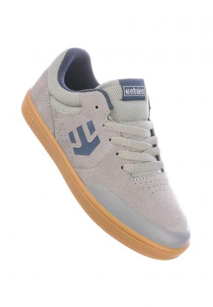 etnies Alle Schuhe Marana Kids grey-blue-gum vorderansicht 0216022