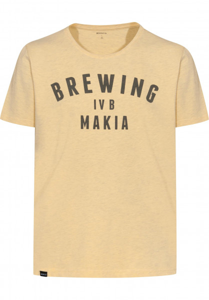 Makia T-Shirts Brewing yellow Vorderansicht