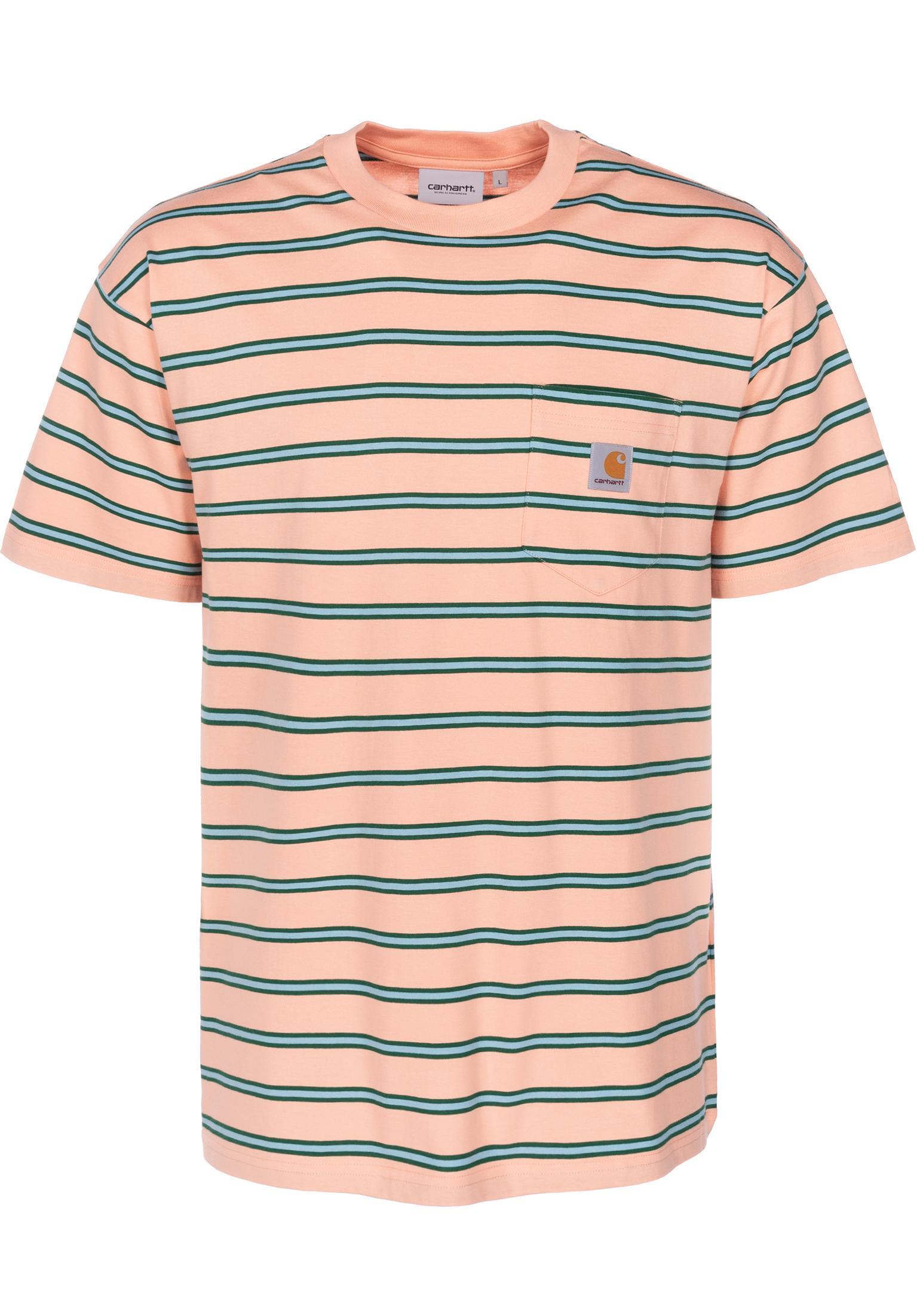 954ffc0b3a13 Houston Pocket Carhartt WIP T-Shirts in houstonstripe-peach for Men ...