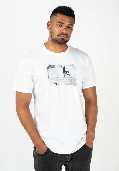 Reell T-Shirts Kickflip Wallride snowwhite vorderansicht 0322668