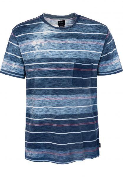 RVCA T-Shirts Rusholme seattleblue vorderansicht 0398558
