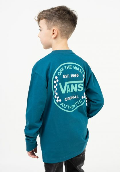 Vans Longsleeves Authentic Checker moroccanblue vorderansicht 0383992