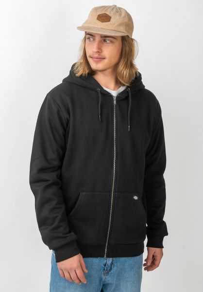 Dickies Zip-Hoodies Kingsley black vorderansicht 0454435