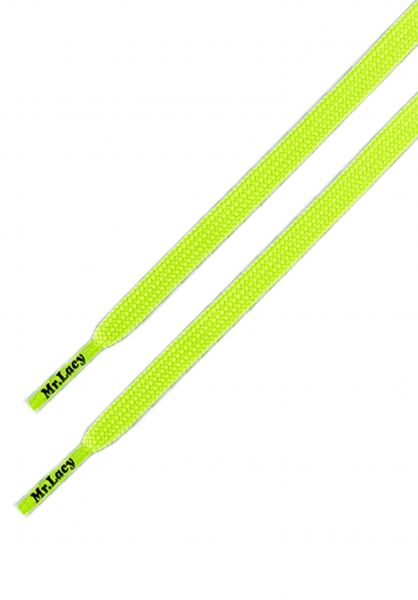 Mr. Lacy Schnürsenkel Runnies Flat neonlime-yellow vorderansicht 0640031