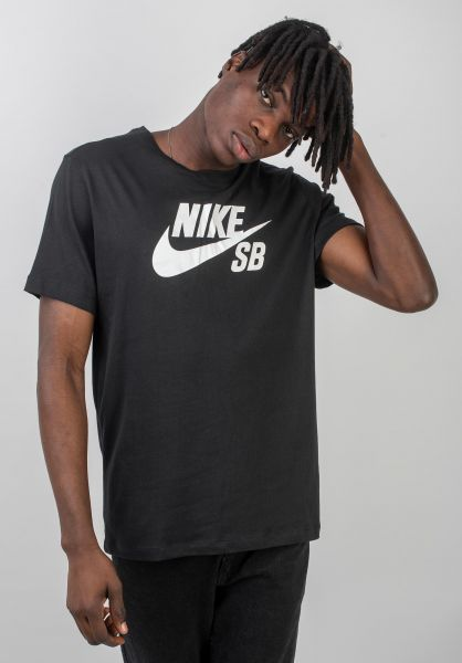 Nike SB T-Shirts DFT Icon Logo black-white vorderansicht 0394809