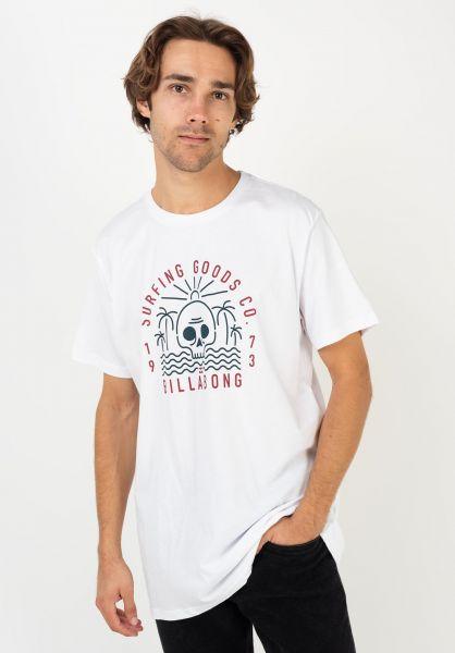 Billabong T-Shirts Road End white vorderansicht 0322645