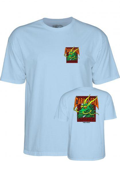 Powell-Peralta T-Shirts Caballero Street Dragon II powder-blue Vorderansicht