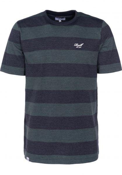 Reell T-Shirts Striped deepgreen-navy vorderansicht 0398961