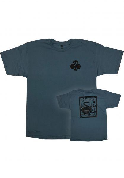 Lowcard T-Shirts Snake Card slate-blue vorderansicht 0321784