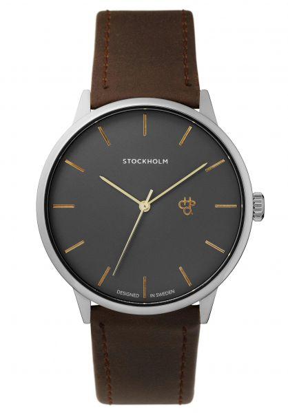 CHPO Uhren Khorshid Stockholm gunmetal-brown vorderansicht 0810409