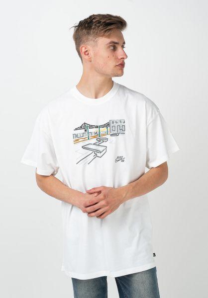 Nike SB T-Shirts Yoon Pier 7 white vorderansicht 0321674