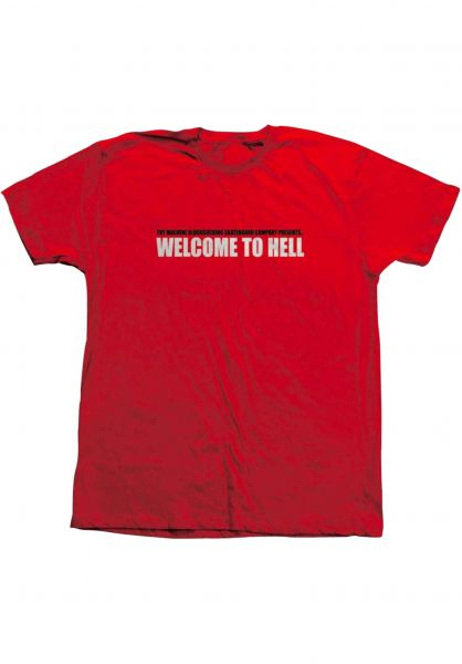 Toy-Machine T-Shirts Welcome To Hell red vorderansicht 0322133