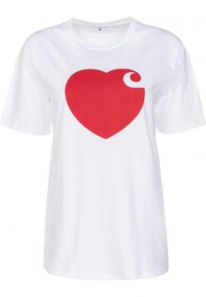 Carhartt WIP T-Shirts W' S/S Hartt white-cardinal vorderansicht 0398993