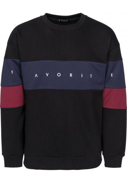 Favorite Sweatshirts und Pullover Crewneck black-navy-burgundy Vorderansicht