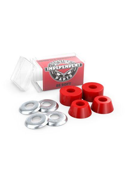 Independent Lenkgummis Standard Cylinder Cushions Soft 88A red Vorderansicht 0199122