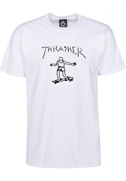 Thrasher T-Shirts Gonz white Vorderansicht