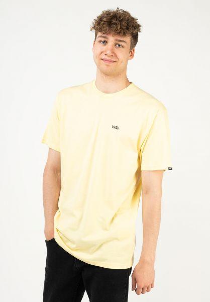Vans T-Shirts Left Chest Logo mellowyellow vorderansicht 0397675