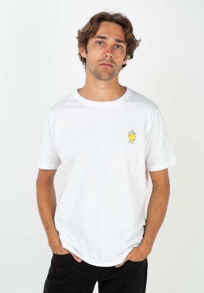 Cleptomanicx T-Shirts Zitrone white vorderansicht 0364501