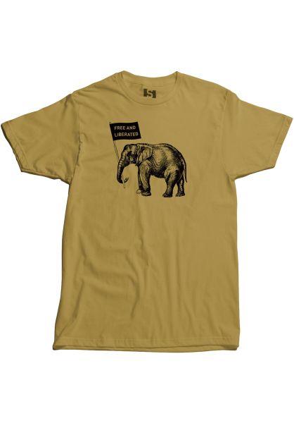 State T-Shirts Elephant antiquegold vorderansicht 0383335