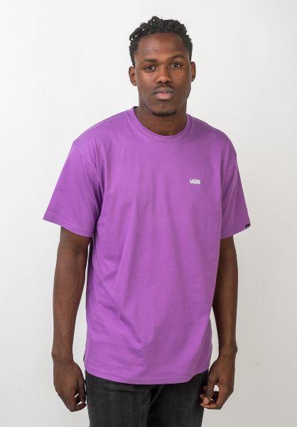 Vans T-Shirts Left Chest Logo dewberry-white vorderansicht 0397675